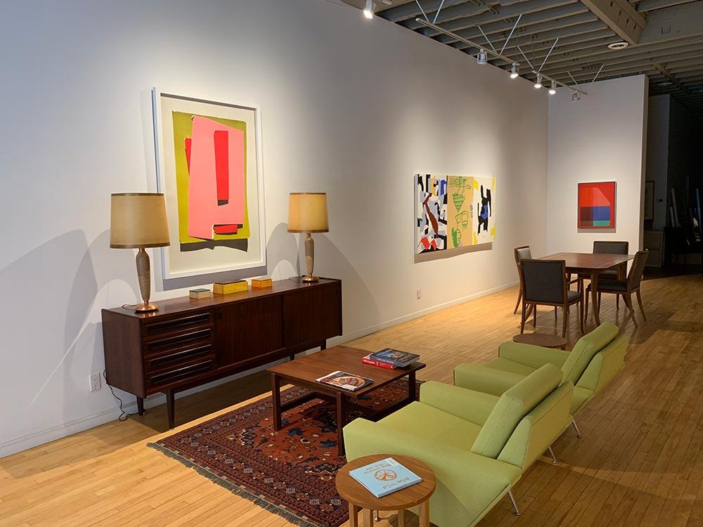 Staged living room art